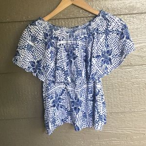 Show me Your Mumu Printed Off The Shoulder top